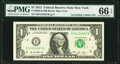 Small Size:Federal Reserve Notes, Ascending Ladder Serial Number 01234567 Fr. 3002-B $1 2013 Federal Reserve Note. PMG Gem Uncirculated 66 EPQ.. ...