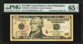 Small Size:Federal Reserve Notes, Ascending Ladder 01234567 Fr. 2040-C $10 2006 Federal Reserve Note. PMG Gem Uncirculated 65 EPQ.. ...