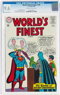 World's Finest Comics #149 (DC, 1965) CGC NM+ 9.6 Off-white to white pages