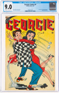 Golden Age (1938-1955):Humor, Georgie Comics #9 (Timely, 1947) CGC VF/NM 9.0 Off-white to white pages....