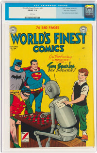 World's Finest Comics #49 Palo Alto Collection Pedigree (DC, 1950) CGC FN/VF 7.0 White pages