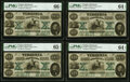 Richmond, VA- State of Virginia $10 Oct. 15, 1862 Cr. 9 Cut Sheet of Four. PMG Gem Uncirculated 66 EPQ; Uncirculat... (T...