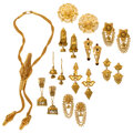 Estate Jewelry:Earrings, Enamel, Gold Jewelry. ... (Total: 10 Items)