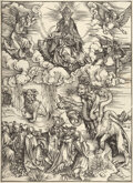 Prints & Multiples, Albrecht Dürer (German, 1471-1528). The beast with two horns like a lamb, from The Apocalypse, 1498. Woodcut on laid...