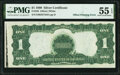 Partial Offset Printing of Front to Back Error Fr. 235 $1 1899 Silver Certificate PMG About Uncirculated 55 EPQ