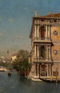 Paintings, Martín Rico y Ortega (Spanish, 1833-1908). Ca' Rezzonico, Venezia. Oil on canvas. 28-3/4 x 18-1/4 in...