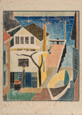 Prints & Multiples, Blanche Lazzell (American, 1878-1956). My Provincetown Studio, 1933. Woodblock print in colors. 14 x 12 inches (35.6 x 3...
