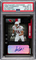 Football Cards:Singles (1970-Now), 2004 Playoff Contenders Larry Fitzgerald Rookie Ticket Autograph #151 PSA Gem Mint 10, Auto 10....