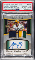Football Cards:Singles (1970-Now), 2005 UD Exquisite Collection Aaron Rodgers Rookie Patch Autograph #106 PSA Gem Mint 10 - Serial Numbered 10/199....