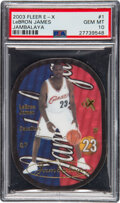 Basketball Cards:Singles (1980-Now), 2003 Fleer E-X Jambalaya LeBron James #1 PSA Gem Mint 10....