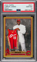 Basketball Cards:Singles (1980-Now), 2003 Topps LeBron James (Gold) #221 PSA Gem Mint 10 -#'d 35/99. ...