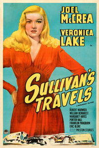 """Sullivan's Travels (Paramount, 1941). Very Fine- on Linen. One Sheet (27"""" X 41"""") Style A"""