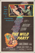 """Movie Posters:Crime, The Wild Party (United Artists, 1956). Folded, Fine/Very Fine. One Sheet (27"""" X 41""""). Crime.. ..."""