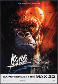"Kong: Skull Island (Warner Bros., 2017). Rolled, Very Fine+. IMAX 3-D Mini Poster (13"" X 19""). Adventure"