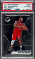 Basketball Cards:Singles (1980-Now), 2019 Panini Mosaic Zion Williamson (Red Jersey) #209 PSA Gem Mint 10. ...