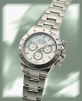 Timepieces:Wristwatch, Rolex, Ref. 116520 Oyster Perpetual Cosmograph Daytona, Stainless Steel, circa 2000. ...