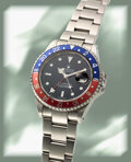 Timepieces:Wristwatch, Rolex, GMT-Master II Ref. 16710, Oyster Perpetual, Stainless Steel, circa 2001. ...