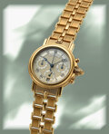 Timepieces:Wristwatch, Breguet, Very Fine Marine Chronograph Early Series, 18k Gold, circa 1990's. ...