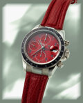 "Timepieces:Wristwatch, Tudor, Prince Date Automatic Chrono Time, Red ""Tiger"" Dial..."