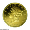 Proof Liberty Double Eagles: , 1898 $20 PR65 Cameo PCGS. A deeply reflective yellow-gold ...