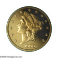 Proof Liberty Double Eagles: , 1900 $20 PR64 Cameo PCGS. There are very few coins as awe ...