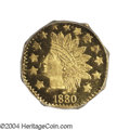 California Fractional Gold: , 1880 50C Indian Octagonal 50 Cents, BG-954, Low R.4, MS66 ...