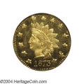 California Fractional Gold: , 1873 $1 Indian Octagonal 1 Dollar, BG-1123, High R.4, MS65 ...