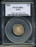 Patterns: , 1858 P1C Flying Eagle Cent, Judd-202, Pollock-245, R.5, ...