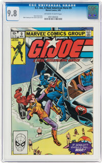 G. I. Joe, A Real American Hero #9 (Marvel, 1983) CGC NM/MT 9.8 Off-white to white pages