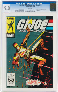 G. I. Joe, A Real American Hero #21 (Marvel, 1984) CGC NM/MT 9.8 White pages
