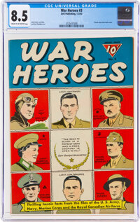 War Heroes #3 (Dell, 1943) CGC VF+ 8.5 Cream to off-white pages