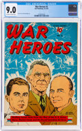 Golden Age (1938-1955):War, War Heroes #2 (Dell, 1942) CGC VF/NM 9.0 Off-white to white pages....