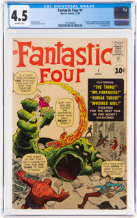 Fantastic Four #1 (Marvel, 1961) CGC VG+ 4.5 Off-white pages