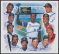 Autographs:Others, 500 Home Run Clubs Multi-Signed Poster. ...