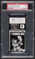 """Football Collectibles:Tickets, 1974 AFC Divisional Playoff Oakland vs. Miami """"Sea of Hands"""" Game Ticket Stub, PSA, EX 5...."""