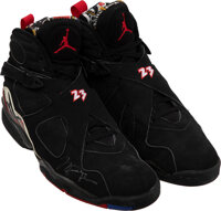 "1993 Michael Jordan NBA Eastern Conference Finals Worn & Signed ""Air Jordan VIII Playoffs"" Sneakers from T..."