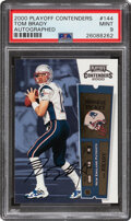 Football Cards:Singles (1970-Now), 2000 Playoff Contenders Tom Brady (Rookie Ticket Autograph) #144 PSA Mint 9....