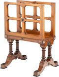 Furniture, A Victorian Hardwood Folio Stand, late 19th century . 41-3/4 x 27-3/4 x 26 inches (106.0 x 70.5 x 66.0 cm). ...