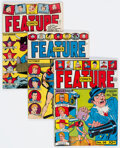 Golden Age (1938-1955):Miscellaneous, Feature Comics #38, 72, and 73 Group (Quality, 1940-43).... (Total: 3 Comic Books)