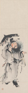 Works on Paper, Huang Shen (Chinese, 1687-1773). Zhongkui (2 works). Hanging scrolls. 27-1/2 x 8-1/4 inches (69.9 x 21.0 cm) (works). 49... (Total: 2 Items)