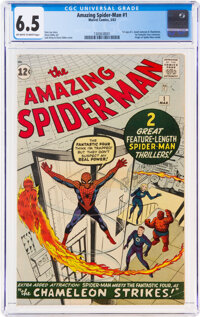 The Amazing Spider-Man #1 (Marvel, 1963) CGC FN+ 6.5 Off-white to white pages