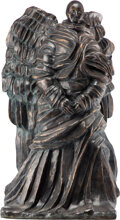 Sculpture, Leonard Baskin (American, 1922-2000). Angel. Bronze with brown patina. 54-1/4 inches (137.8 cm) high. Inscribed along ba...