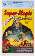 Golden Age (1938-1955):Adventure, Super Magic Comics #1 Double Cover (Street & Smith, 1941) CBCS FN/VF 7.0 White pages....