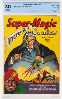 Super Magic Comics #1 Double Cover (Street & Smith, 1941) CBCS FN/VF 7.0 White pages