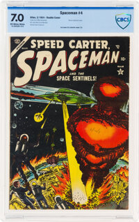 Spaceman #4 Double Cover (Atlas, 1954) CBCS FN/VF 7.0 Off-white to white pages
