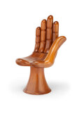 Furniture, Pedro Friedeberg (Italian/Mexican, b. 1937). Hand Chair, circa 1965. Mahogany. 33-1/2 x 17 x 21 inches (85.1 x 43.2 x 53...