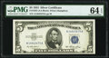 Small Size:Silver Certificates, Fr. 1655 $5 1953 Silver Certificate. PMG Choice Uncirculated 64 EPQ.. ...