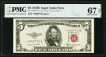Fr. 1534* $5 1953B Legal Tender Note. PMG Superb Gem Unc 67 EPQ