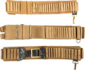 Militaria:Uniforms, Three Canvas Webbing Ammunition Belts.. ...