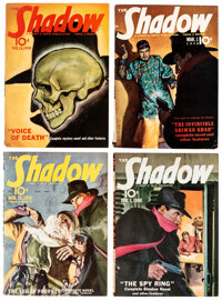 Shadow Group of 4 (Street & Smith, 1940) Condition: Average VG/FN.... (Total: 4 Items)